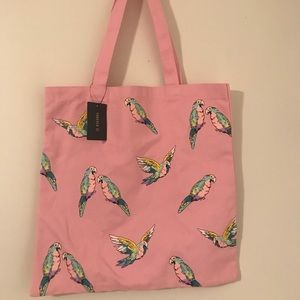 Forever 21 Pink Parrot Tote Bag